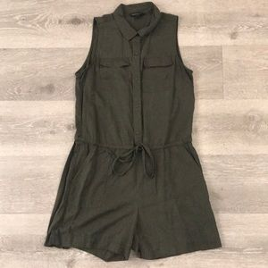 Gap olive green romper shorts